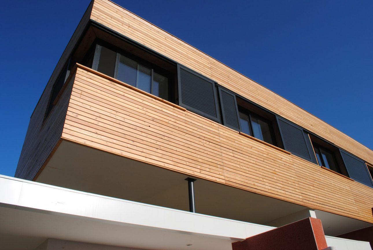 Construction maison moderne bois